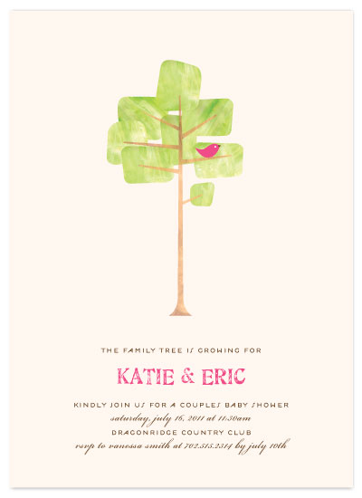 shower invitations - Family Tree by Three Kisses Studio