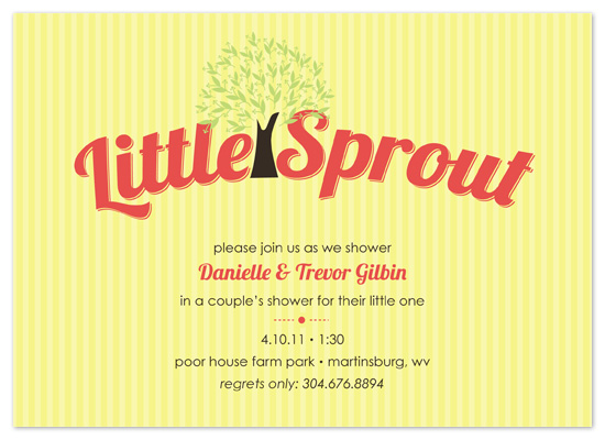 shower invitations - Our Little Sprout by Bethany Anderson
