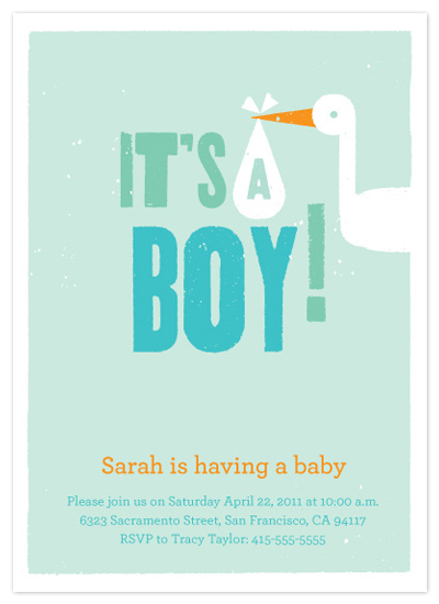 shower invitations - Baby Boy by Tracy White Taylor