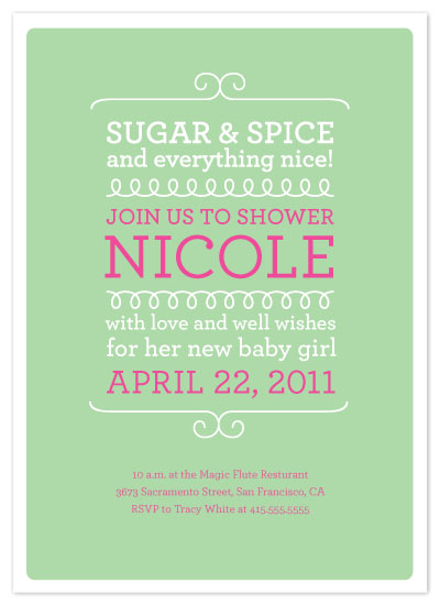 shower invitations - Sugar and Spice by Tracy White Taylor