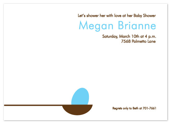 shower invitations - Egg n Spoon by olive paperie