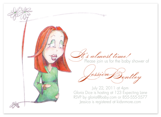 shower invitations - Red Headed Mom by www.project1128.com