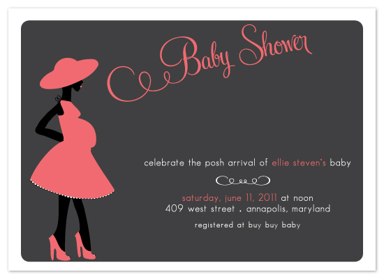 shower invitations - Posh Baby by Preppy Paperie