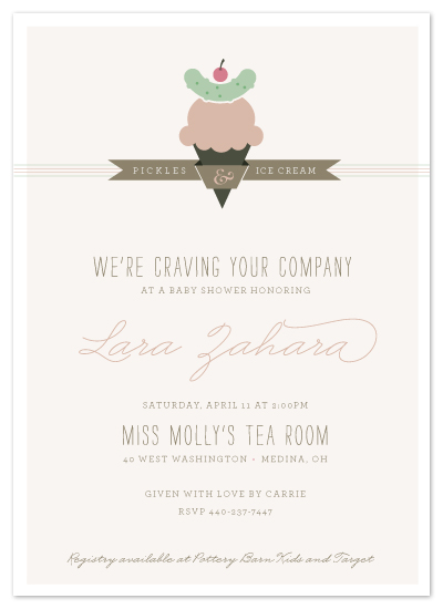 shower invitations - Craving Your Company by Carrie ONeal