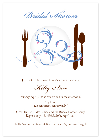 shower invitations - Swirly Plates by Bridget Collins