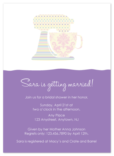 shower invitations - Baking Showers by Bridget Collins