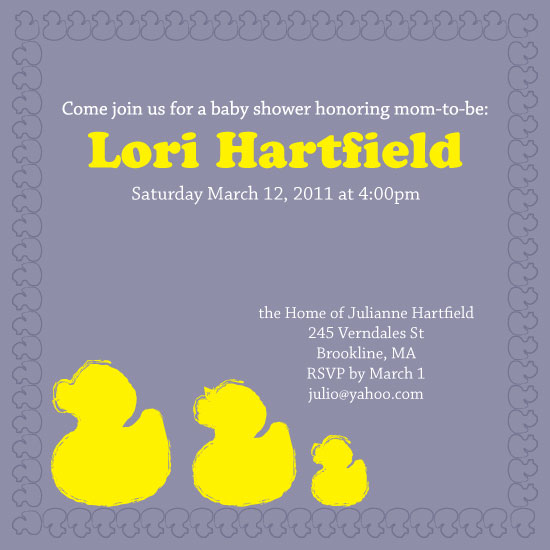 shower invitations - Rubber Ducky Family by Ms. P