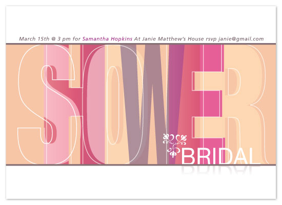 shower invitations - Spring Color Mix by Saltwater Between