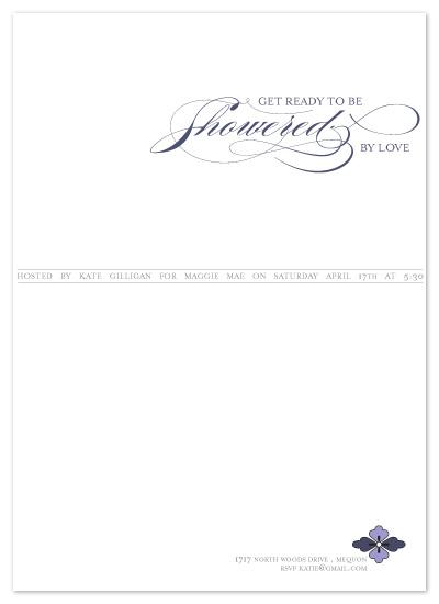 shower invitations - Simple Elegance by Saltwater Between