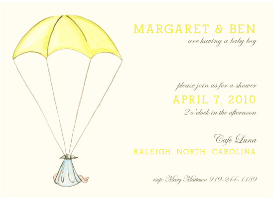 shower invitations - Parachute by Laurens