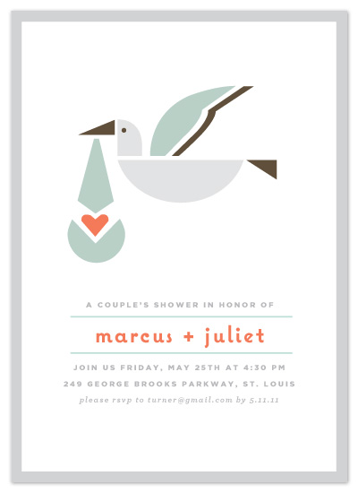 shower invitations - simply stork by Moglea