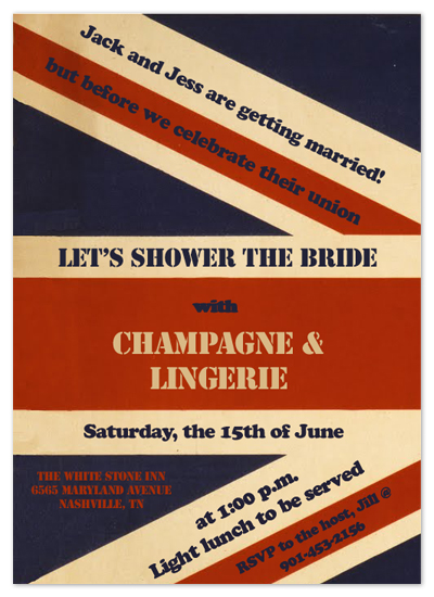 shower invitations - The Union Jack by Pretty Rustic