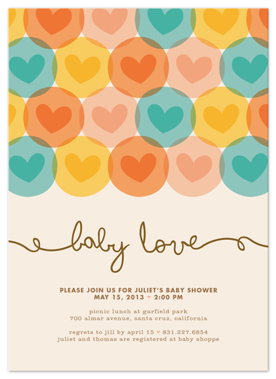 shower invitations - baby love by Waui Design