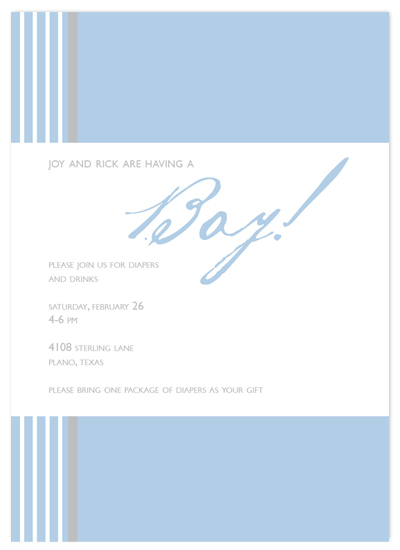 shower invitations - Stripe Right by Simple Groovy
