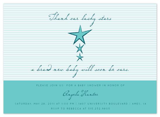 shower invitations - Something Blue by Chelsea Marsh
