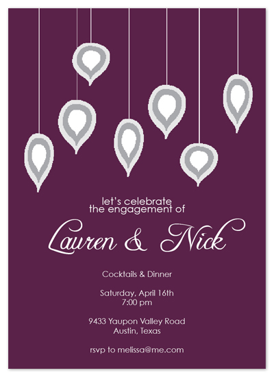 shower invitations - Dangled by Simple Groovy