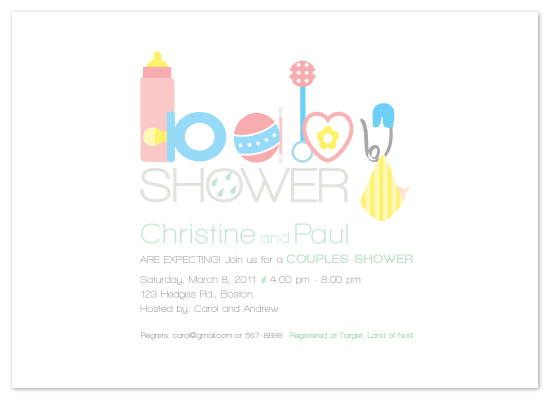 shower invitations - Spell Out Baby by Bella Expressions-Linda Birtel