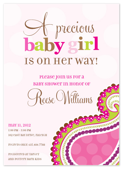 Shower invitations pretty in pink polka paisley at minted shower invitations pretty in pink polka paisley by inkberry creative filmwisefo