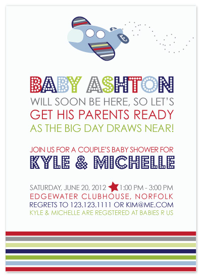 shower invitations - Little Jetsetter by Inkberry Creative
