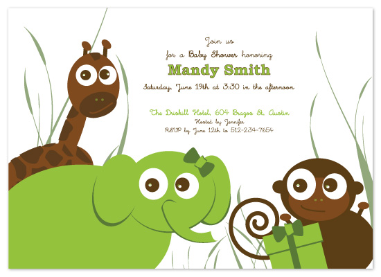 shower invitations - Safari Babies by Bloom Art and Design