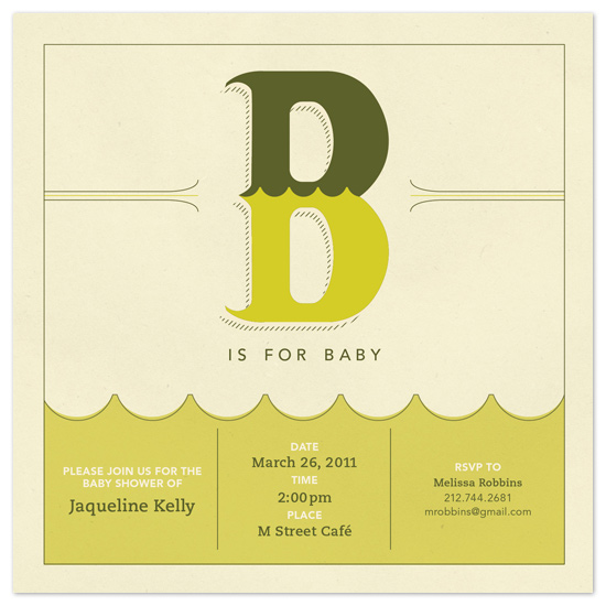 shower invitations - B is for Baby by Allison Gaffney