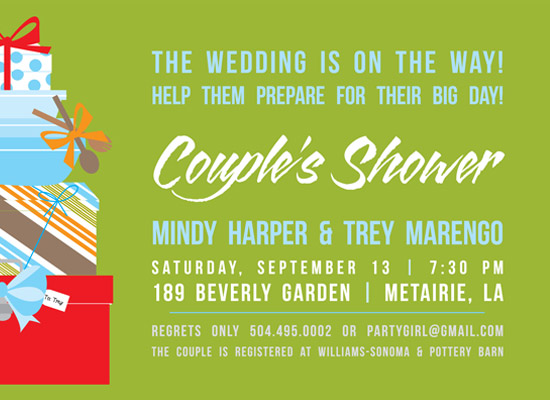 shower invitations - Martha meets Bob Vila by mango designs