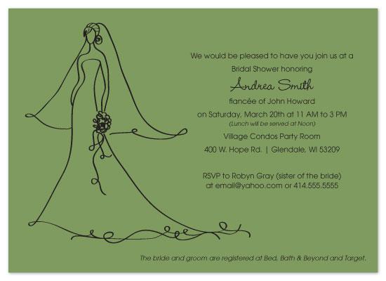 shower invitations - Simple Elegance in Green by Melissa DeBuck