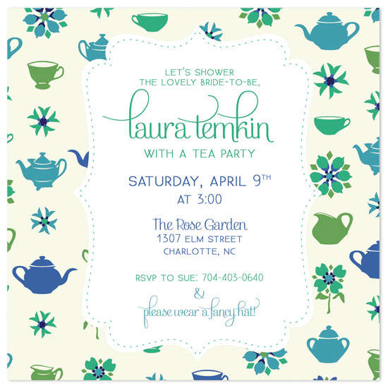 shower invitations - Bridal Tea Shower by Jessie May Perlin