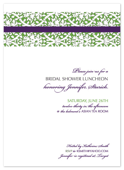 shower invitations - Asian Tea Party by Bloom Art and Design