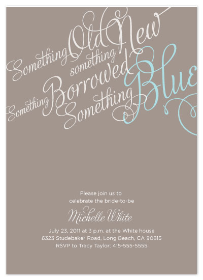 shower invitations - Something Blue by Tracy White Taylor