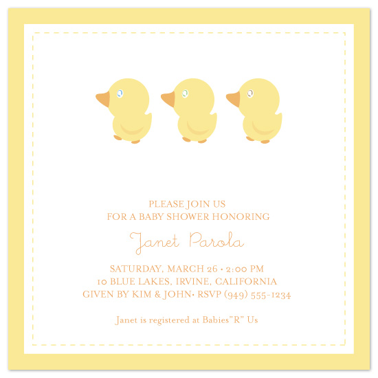 shower invitations - ducklings by Hoang Huynh