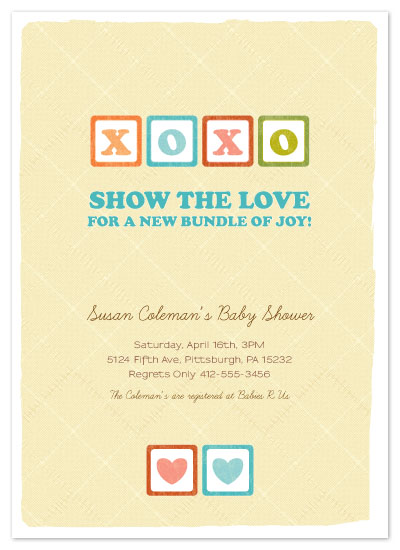 shower invitations - Show The Love, XOXO by Kelley Malone