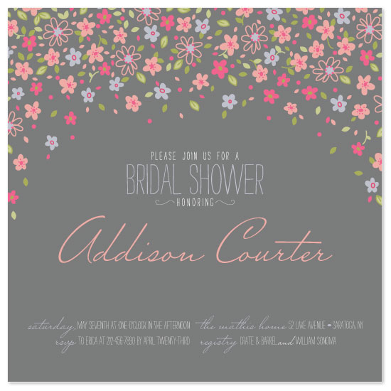shower invitations - Floral Confetti by Alisse Catherine