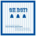 Blue Stripe Baby Blanke... by Joyful Heart Design