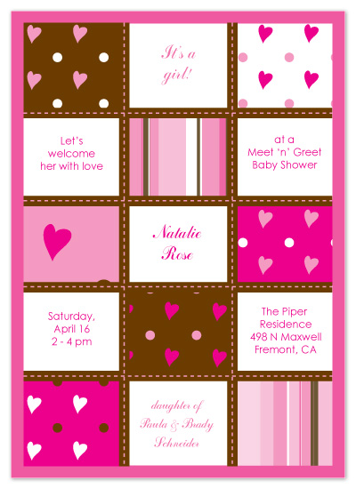 shower invitations - Neapolitan Patchwork Quilt by Joyful Heart Design