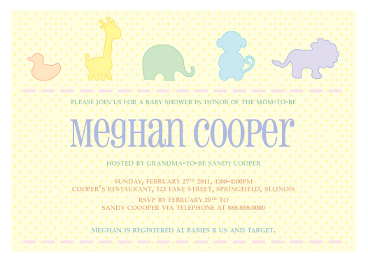 shower invitations - Baby Animals Baby Shower Invitation by ColorCoated