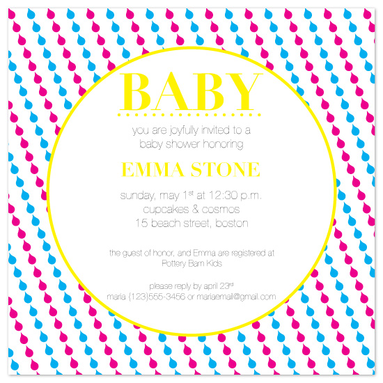 shower invitations - Pop art baby shower by Maria Matos