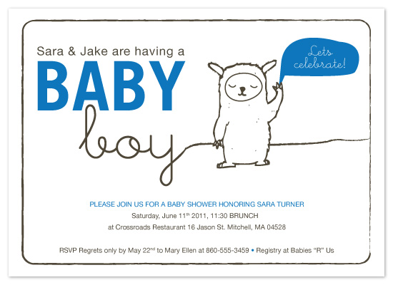 shower invitations - Sweet Little Monster Baby Shower Invitation by Patti Murphy