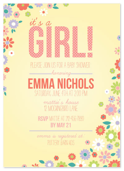 shower invitations - Folksy Floral by Alisse Catherine