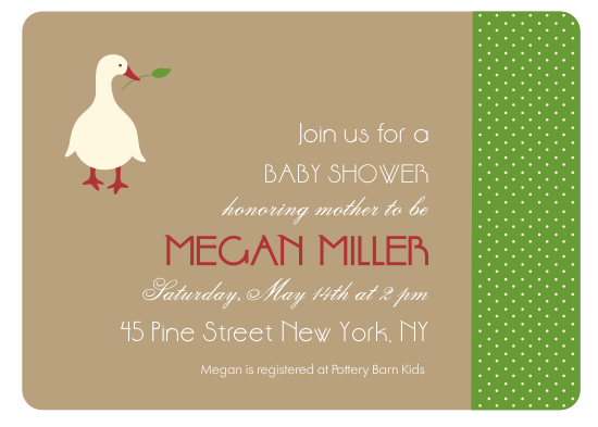 shower invitations - gosling by SOPHiE