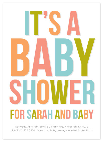 shower invitations - Bold Baby by Kelley Malone