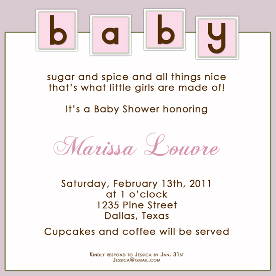 shower invitations - Baby Blocks in Square by Jenn Ragusa