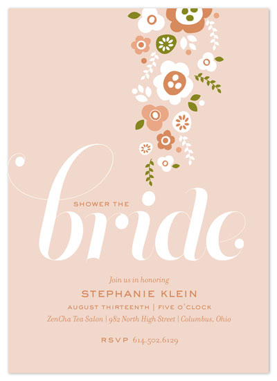 shower invitations - Shower of flowers by Cheer Up Press