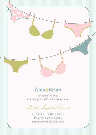 shower invitations - Panty Party by mango designs
