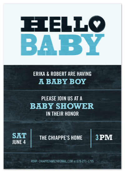 shower invitations - Letterpess Baby by Shari Margolin