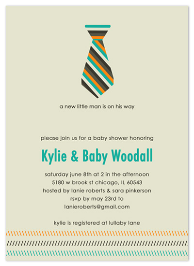 shower invitations - LIttle Man by Amy Jazwinski