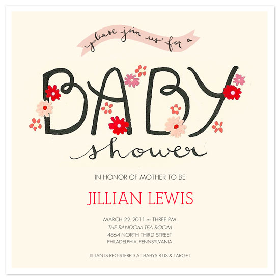 shower invitations - the cheerful baby shower by Melissa Kelman