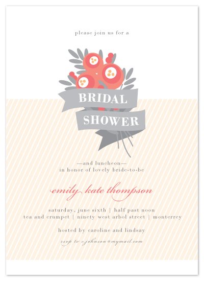 shower invitations - Posie-tively Pretty by Karen Glenn