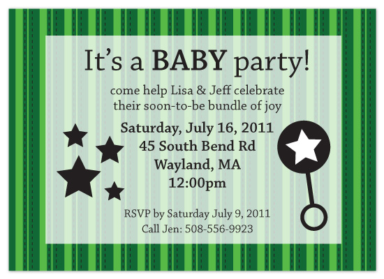shower invitations - It's a BABY party by Christine Arrigo