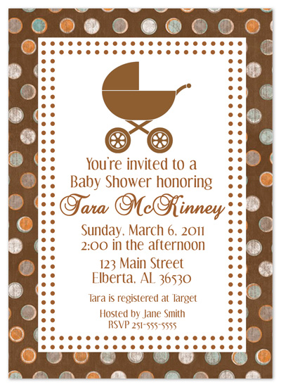 shower invitations - Here Comes Baby in the Carriage by Amy Pearson